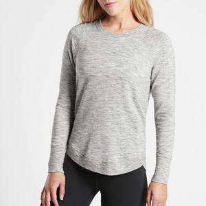 Athleta Marl Heather Grey Mindset Sweatshirt| S